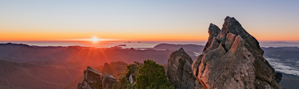 The view from the Pinnacles summit in the Kauaeranga Valley | The Coromandel