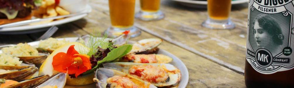 Savour the taste of fresh Coromandel mussels at the Mussel Kitchen in Coromandel Town