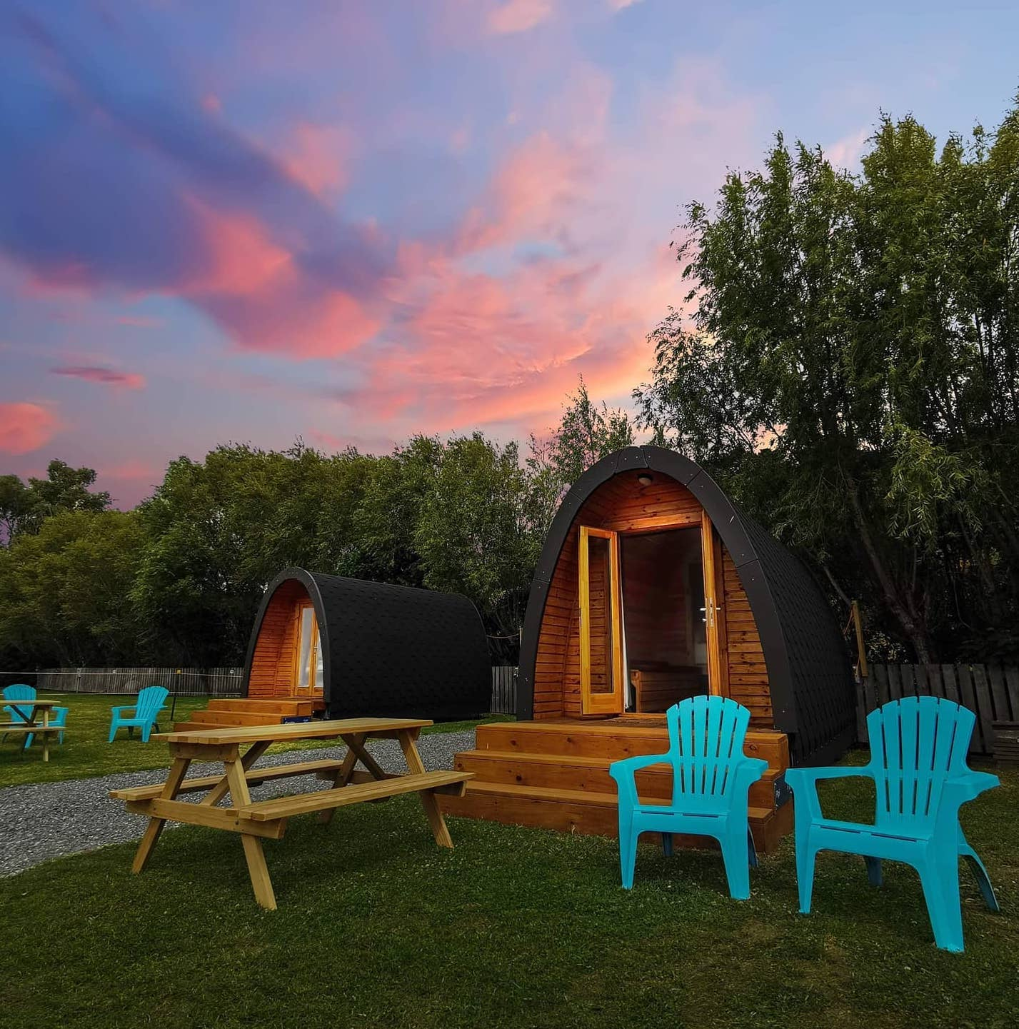 Shelly Beach glamping pods cropped