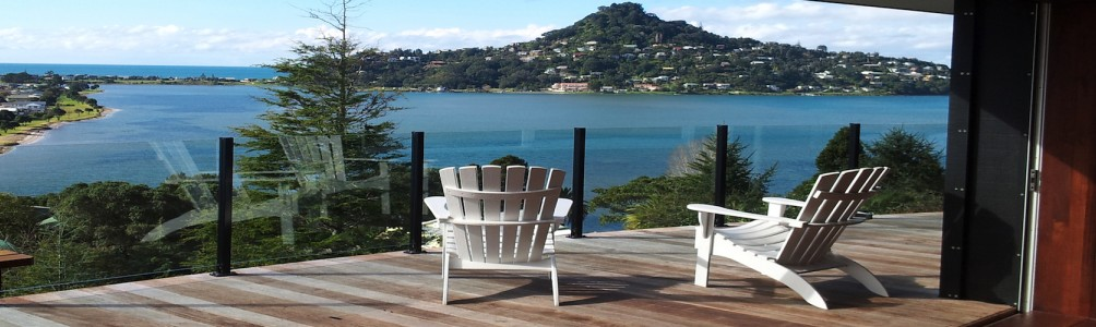 Feel the tension melt away at Sunlover Retreat with panoramic views of the Coromandel Ranges and out to sea