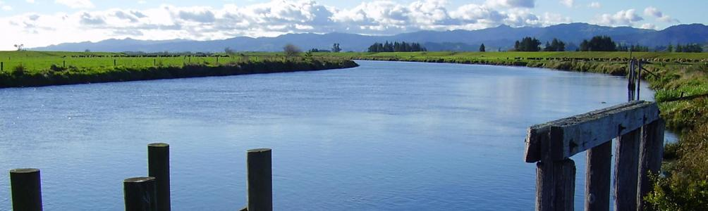 The Waihou river connects the Firth of Thames and Mamaku Ranges